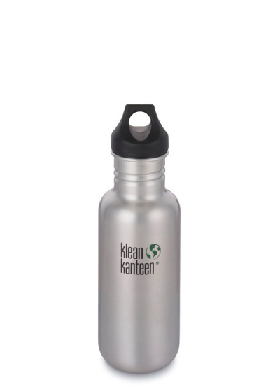 Klean Kanteen Stainless Steel Bottle - 532ml/18oz (Loop Cap)